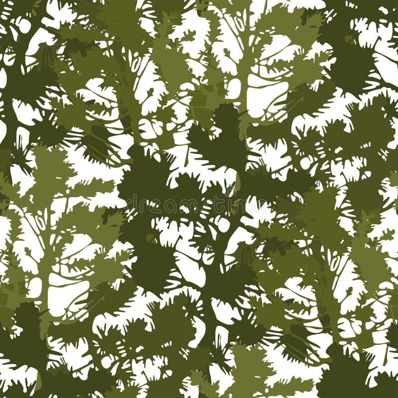 Modello senza cuciture ripetuto degli abeti astratti illustrazione vettoriale