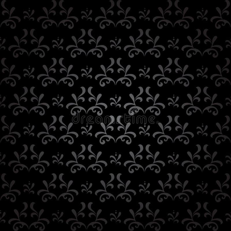 Modello senza cuciture scuro - annata nera di vettore illustrazione di stock