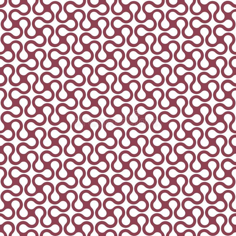 Modello senza cuciture semplice geometrico curvo illustrazione vettoriale