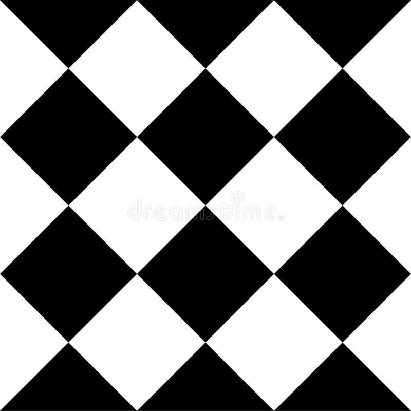 Modello senza cuciture semplice minimo geometrico in bianco e nero royalty illustrazione gratis