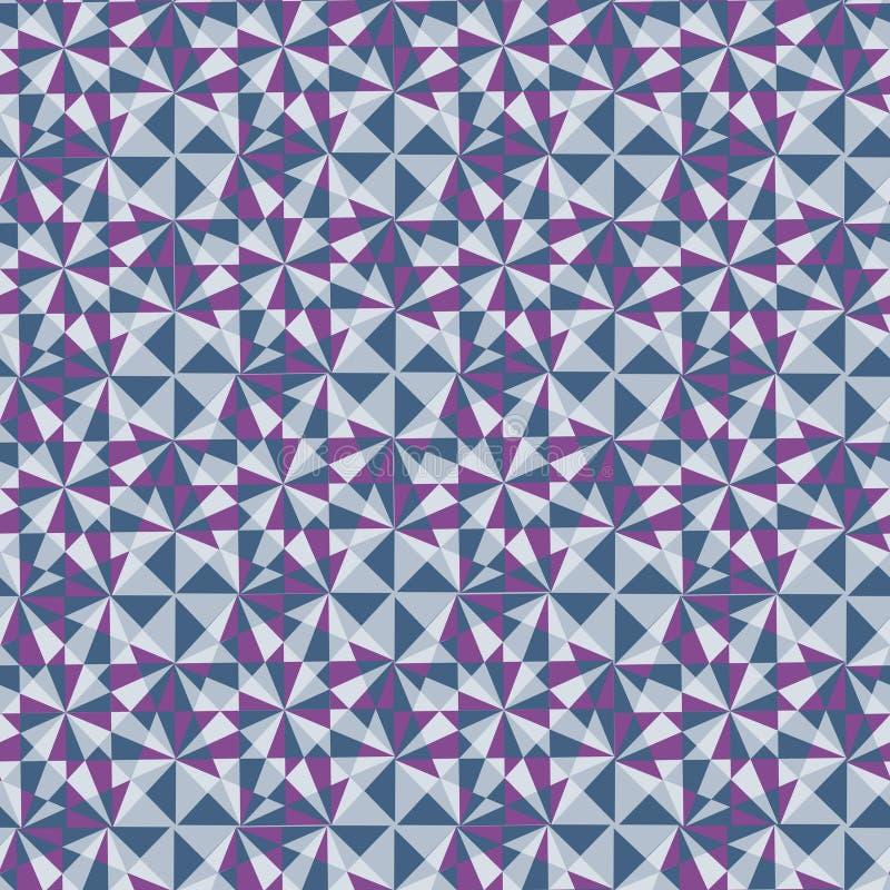 Modello senza cuciture sottratto, da forma geometrica differente illustrazione vettoriale