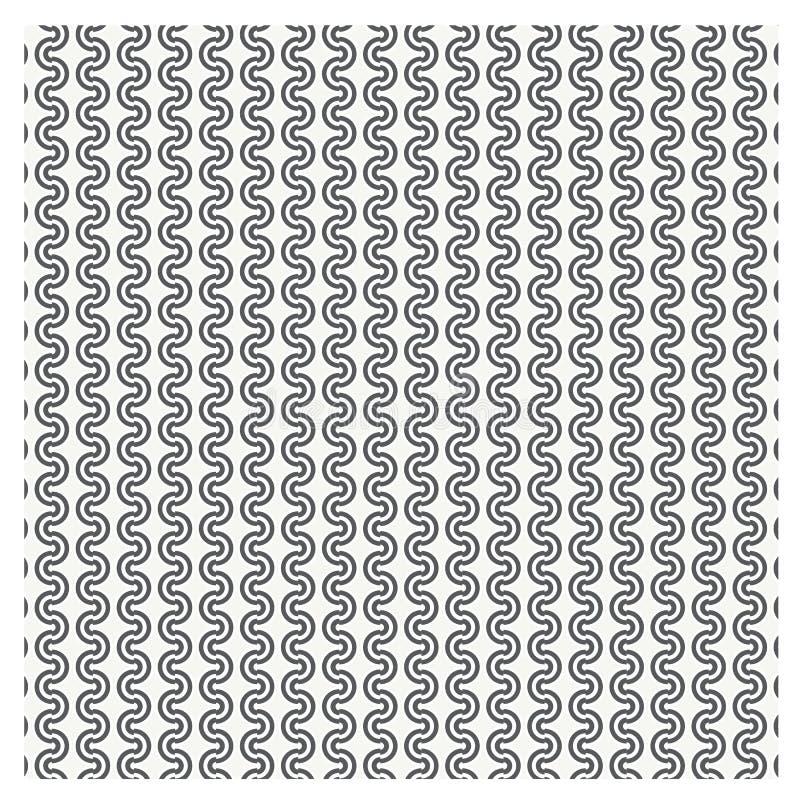 Modello senza cuciture stabilito di vettore con i cerchi punteggiati che ripetono la st di struttura royalty illustrazione gratis
