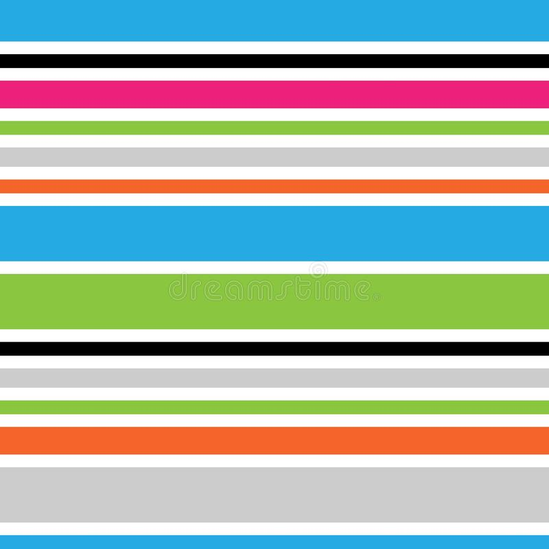 Modello senza cuciture a strisce di orizzontale dell'estratto Fondo colorato vibrante Carta da imballaggio Modello per l'interno, royalty illustrazione gratis