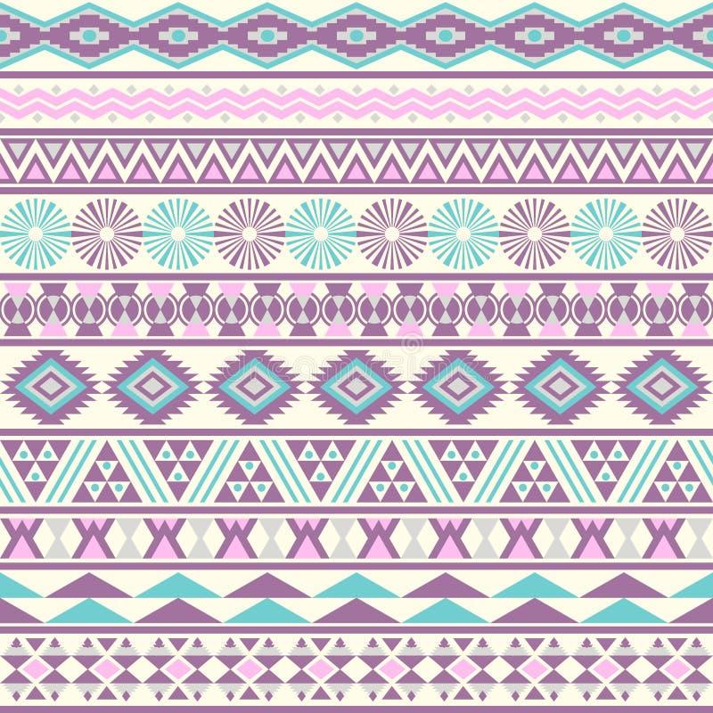 Modello senza cuciture a strisce tribale. illustrazione di stock