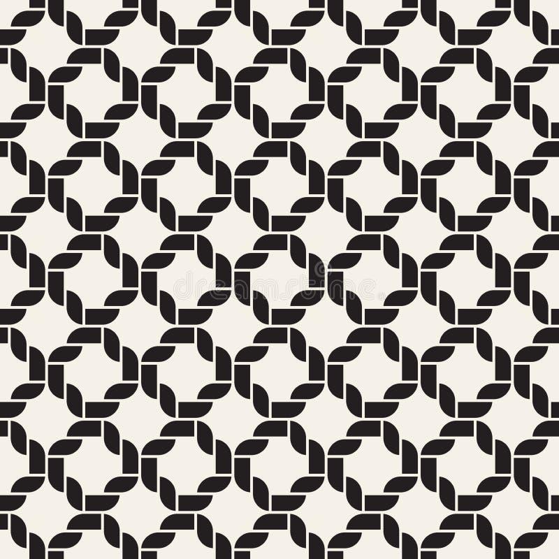 Modello senza cuciture tessuto vettore Struttura d'intreccio alla moda Linee intrecciate geometriche decorative royalty illustrazione gratis