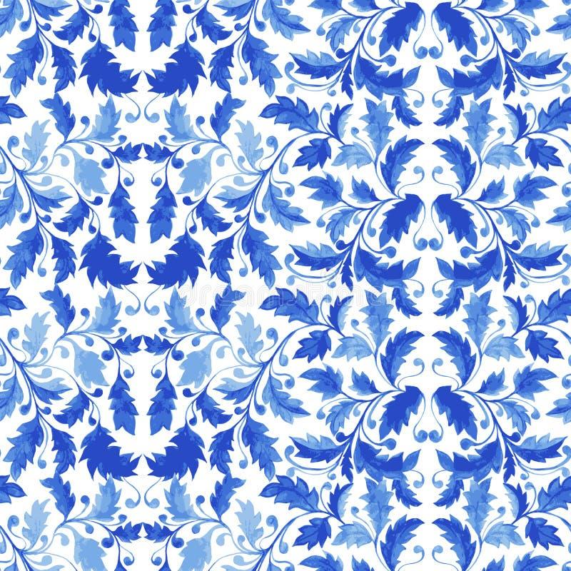 Modello senza cuciture tradizionale del Portogallo Azulejo royalty illustrazione gratis