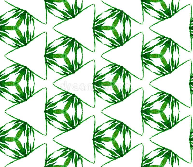 Modello senza cuciture triangolare verde Wate disegnato a mano illustrazione vettoriale