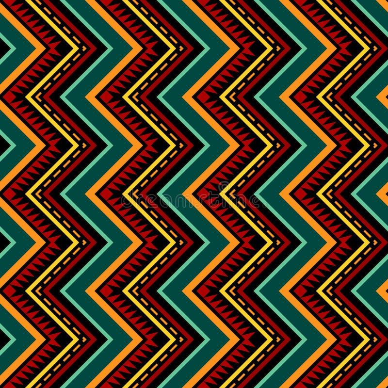 Modello senza cuciture tribale di zigzag verticale royalty illustrazione gratis