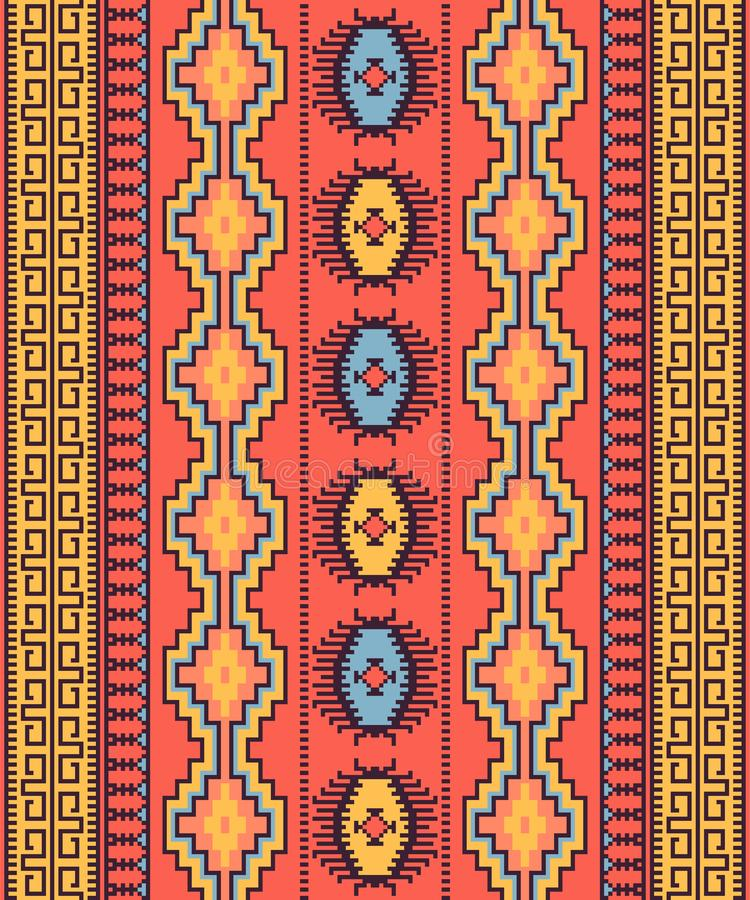 Modello senza cuciture tribale Progettazione geometrica illustrazione vettoriale