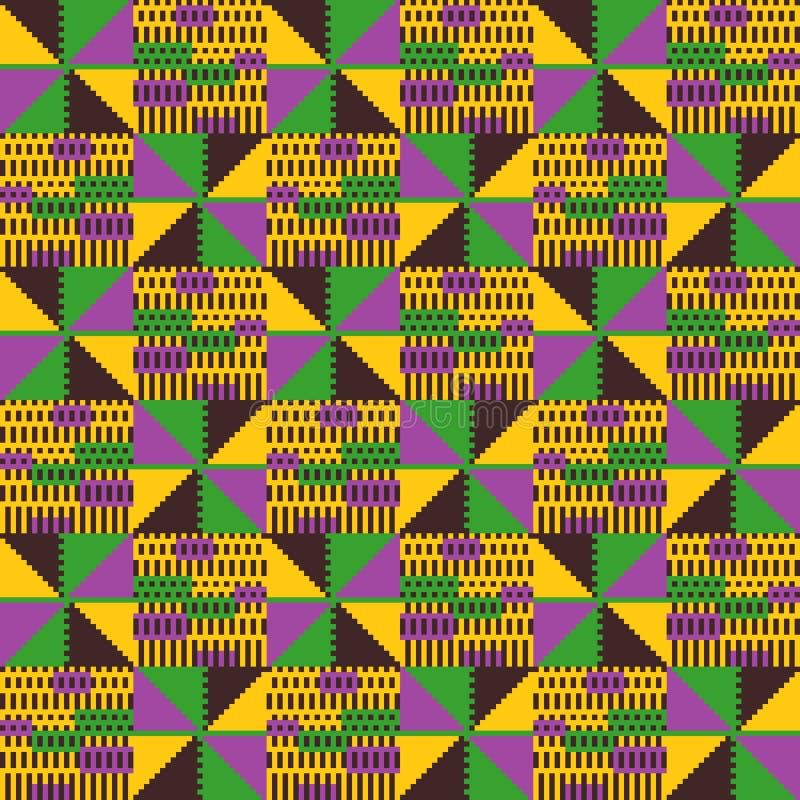 Modello senza cuciture tribale Stile africano geometrico royalty illustrazione gratis