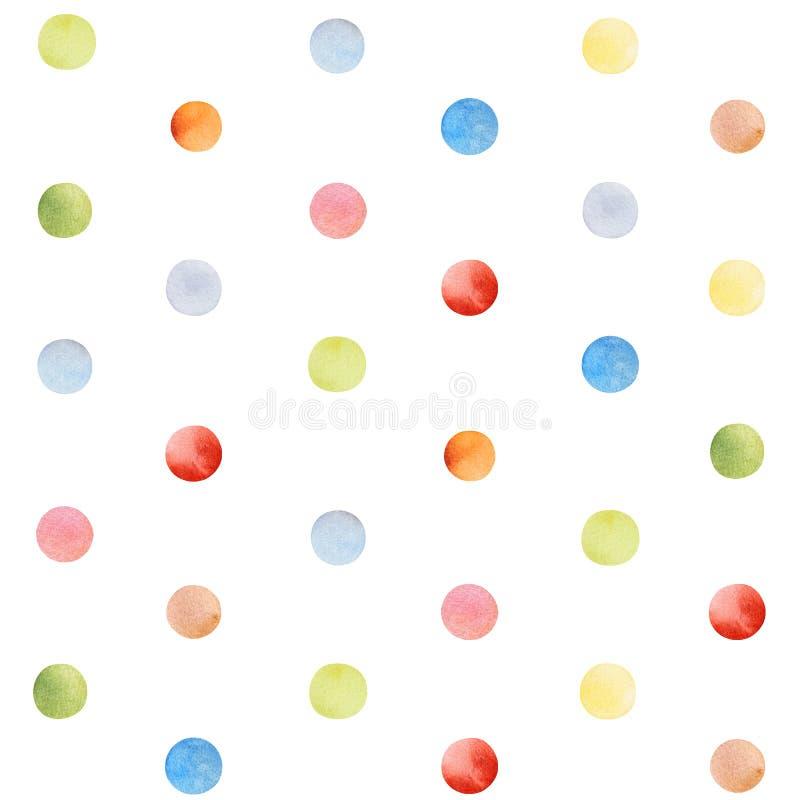 Modello senza cuciture variopinto con i coriandoli multicolori royalty illustrazione gratis