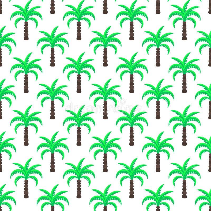 Modello senza cuciture verde di vettore delle palme illustrazione di stock