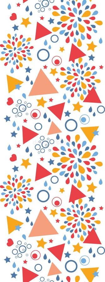 Download Modello Senza Cuciture Verticale Di Celebrazione Astratta Illustrazione Vettoriale - Illustrazione di elemento, colorful: 30827299