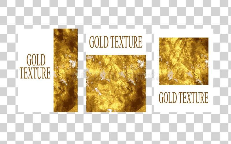 Modello senza pari minimo di struttura dell'oro per l'opuscolo, rapporto annuale, rivista, manifesto, presentazione corporativa,  illustrazione vettoriale