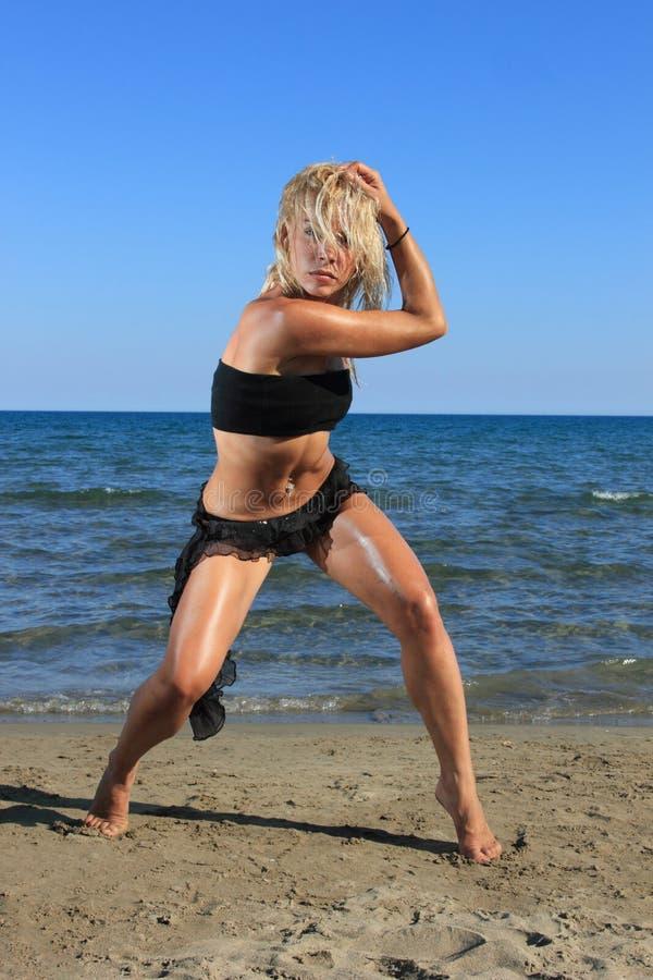 Modello sexy del bikini immagini stock