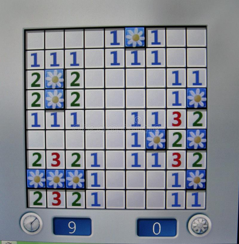 Modello simmetrico di vittoria del gioco di computer della dragamine fotografie stock libere da diritti