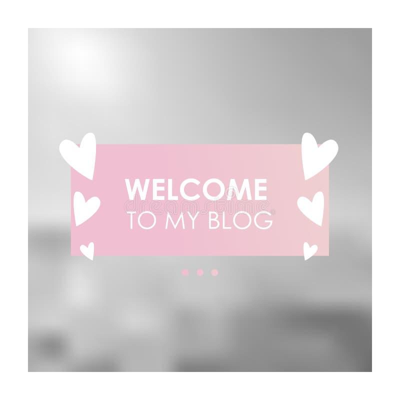 Modello sociale dell'insegna di media per il vostro blog o affare Progettazione sveglia di rosa pastello illustrazione di stock