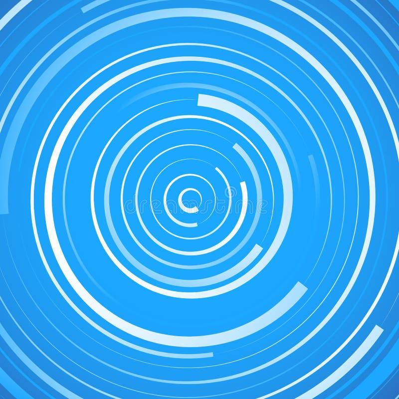 Modello a spirale colorato Cerchi concentrici con l'irregolare, dynam illustrazione vettoriale
