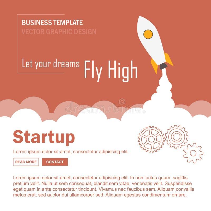 Modello Startup di Infographic Illustrazione di vettore illustrazione vettoriale