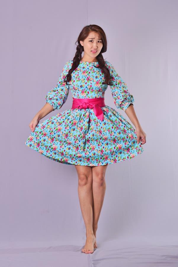 modello stile Lolita, fondo dell'interno fotografia stock