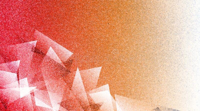 Modello a strisce e blocchi protetti fondo rosso e bianco astratto in linee diagonali con struttura bianca blu d'annata e di ross royalty illustrazione gratis