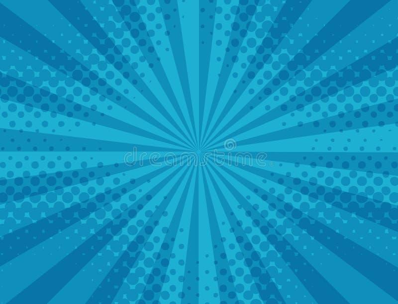 Modello a strisce e di semitono blu astratto illustrazione vettoriale