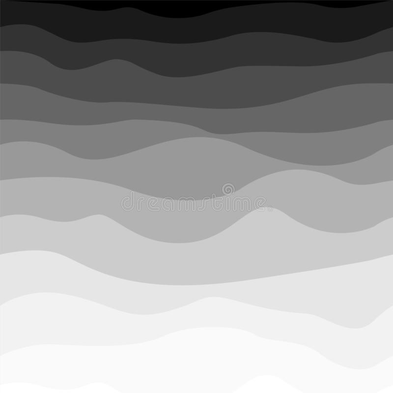 Modello a strisce semplice ondulato - progettazione di semitono Fondo d'avanguardia dell'estratto di pendenza illustrazione vettoriale