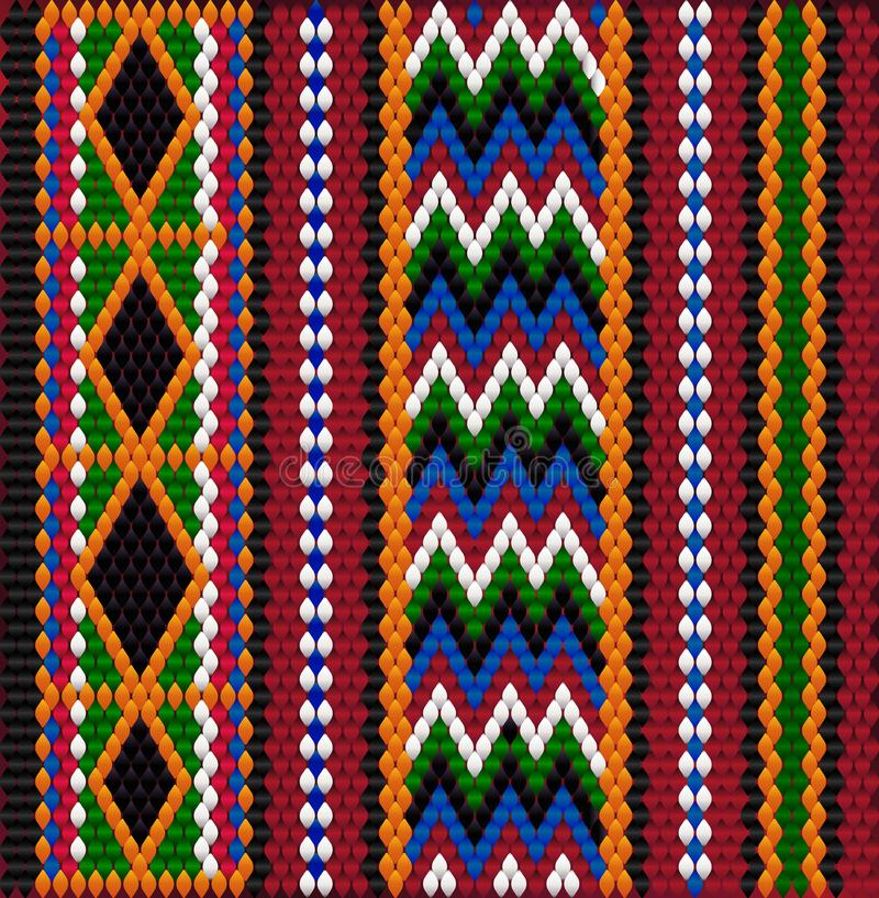 Modello su tessuto beduino Sadu2 immagine stock libera da diritti