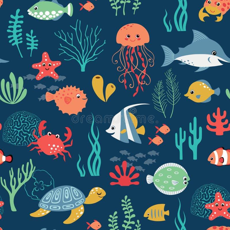 Modello subacqueo di vita illustrazione di stock