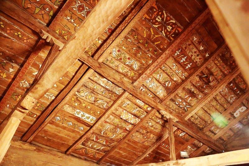 Modello sul tetto della moschea di legno 'Civisiz` 'Gogceli camii' a Samsun, Turchia fotografia stock libera da diritti