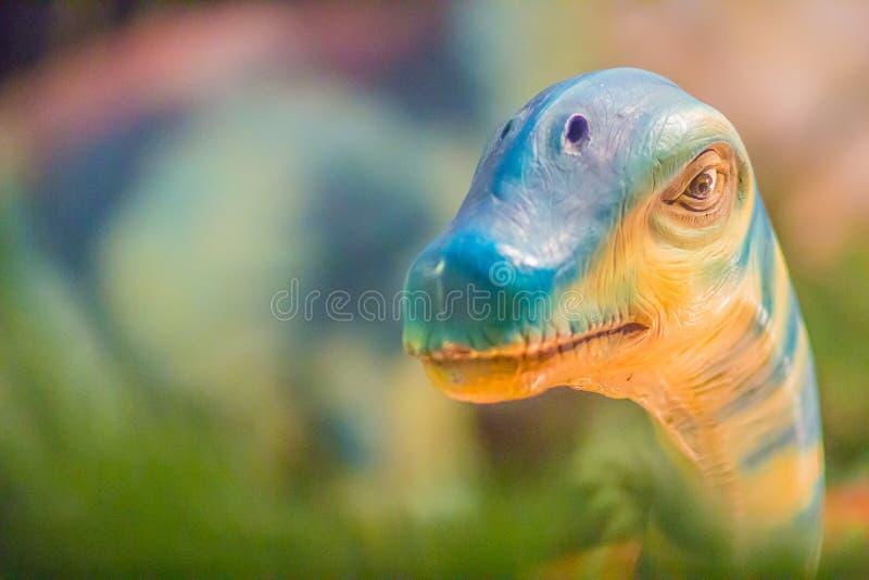 Modello sveglio dei sirindhornae del Phuwiangosaurus al mus del pubblico di Bangkok fotografie stock