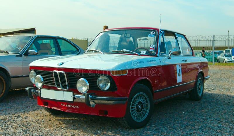 Modello tedesco d'annata di BMW Alpina 2002 dell'automobile sul festival di retro Te immagine stock