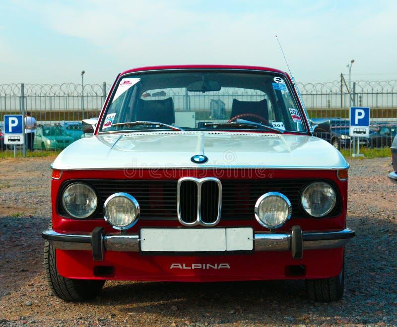 Modello tedesco d'annata di BMW Alpina 2002 dell'automobile sul festival di retro Te immagine stock libera da diritti