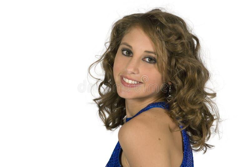Modello Teenager Di Classe Del Brunette - Testa & Spalle Immagine Stock Libera da Diritti