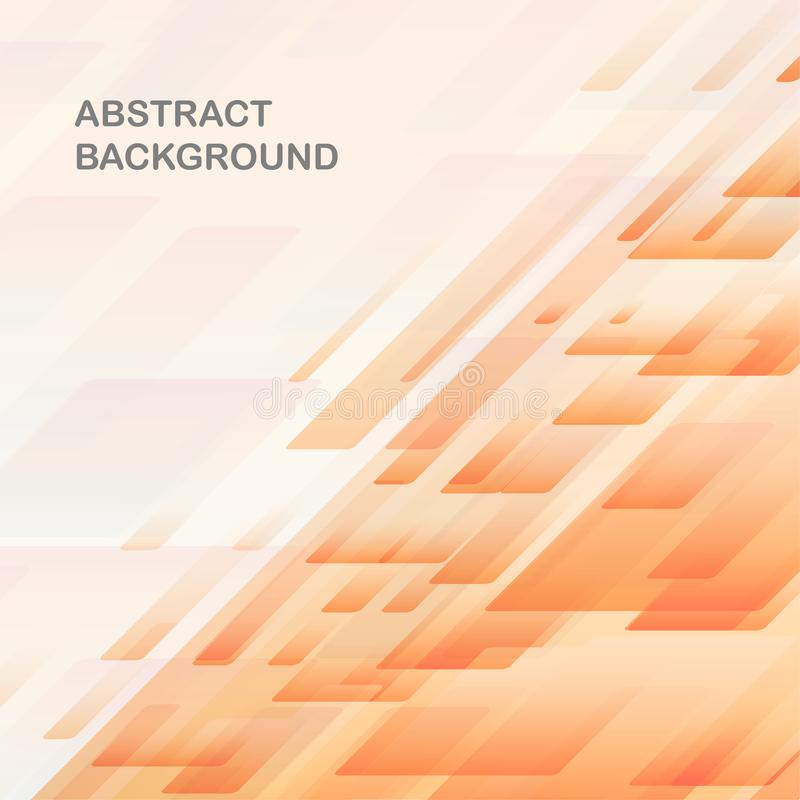Modello trapezoidale in un fondo inclinato con un fondo arancione-chiaro di pendenza illustrazione vettoriale