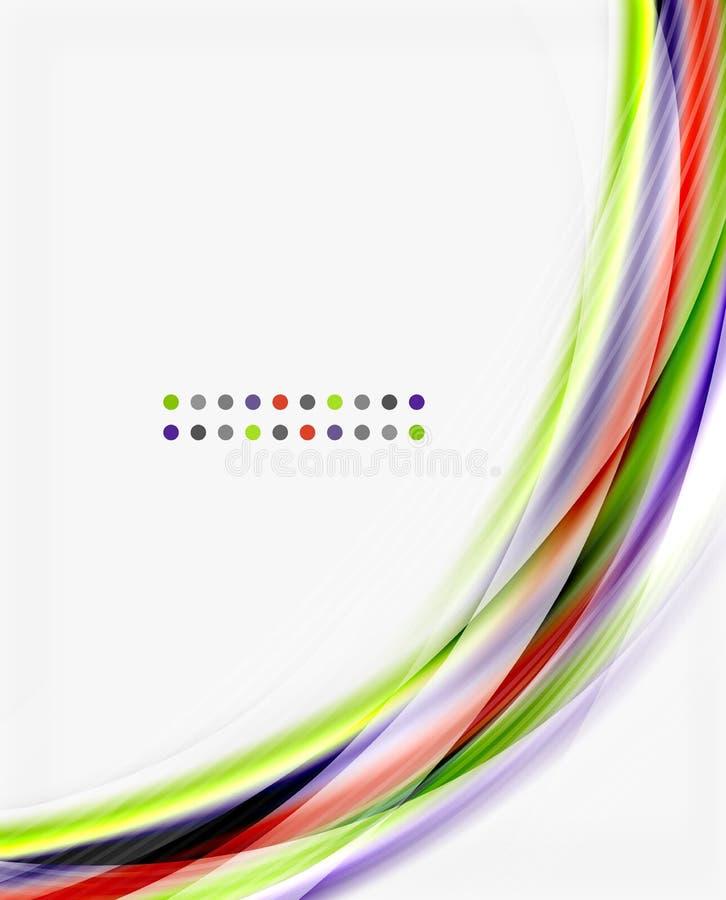 Modello traslucido lucido di vettore di onda illustrazione di stock