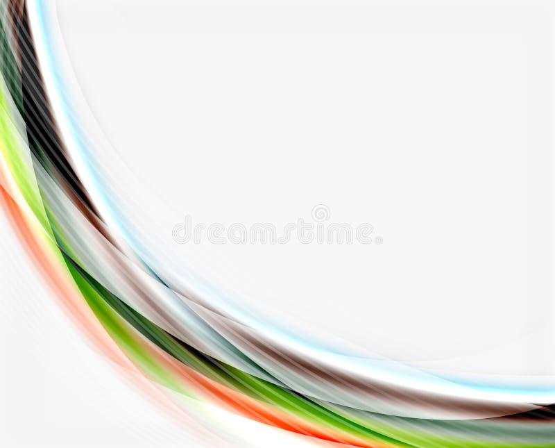 Modello traslucido lucido di vettore di onda illustrazione vettoriale