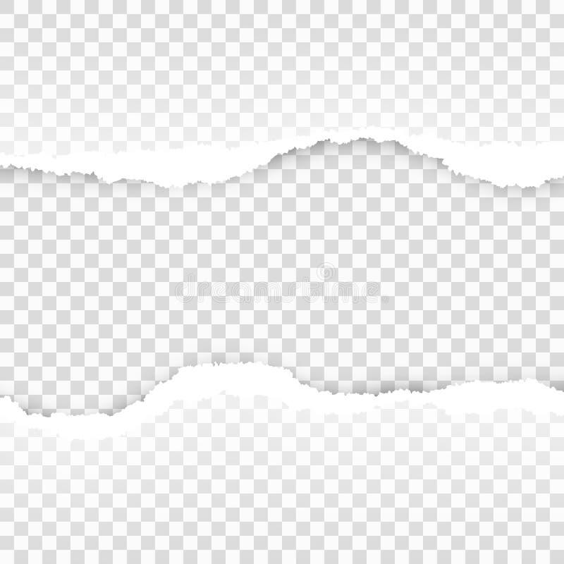 Modello trasparente di carta strappato Vettore di ENV 10 illustrazione vettoriale