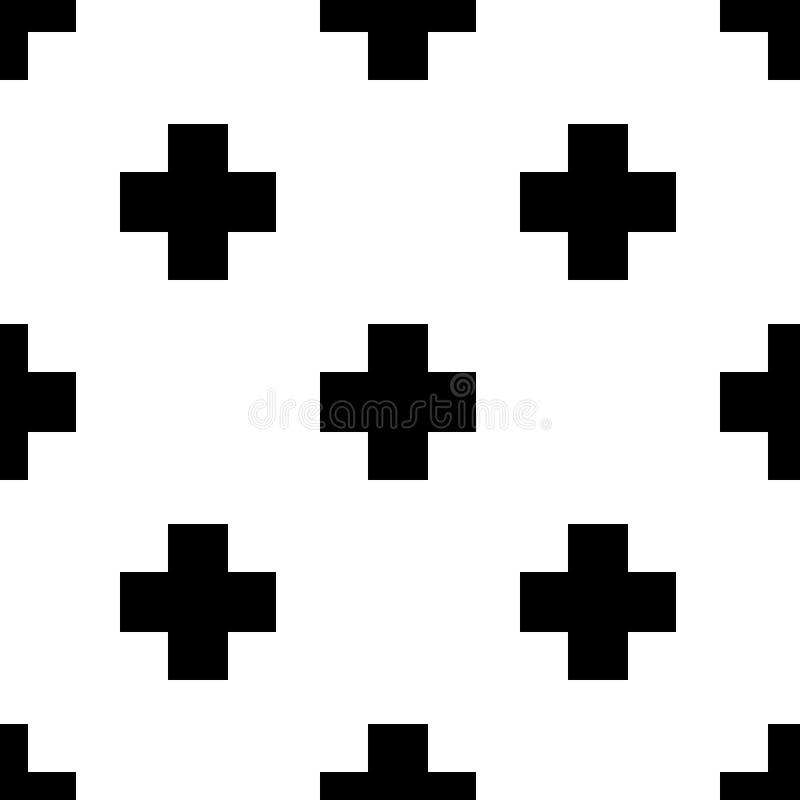 Modello trasversale in bianco e nero senza cuciture scandinavo fotografie stock