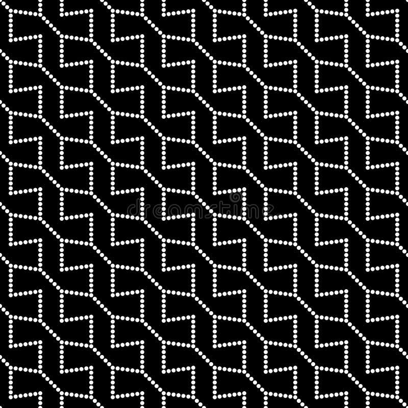 Modello tratteggiato della geometria astratta moderna di vettore fondo geometrico senza cuciture in bianco e nero illustrazione vettoriale