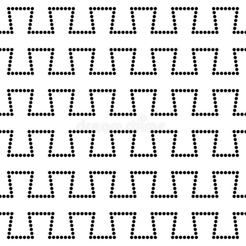 Modello tratteggiato della geometria astratta moderna di vettore fondo geometrico senza cuciture in bianco e nero royalty illustrazione gratis