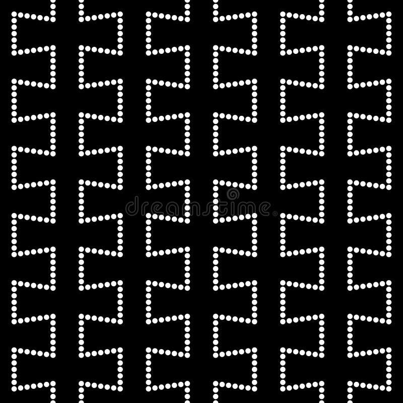 Modello tratteggiato della geometria astratta moderna di vettore fondo geometrico senza cuciture in bianco e nero illustrazione di stock