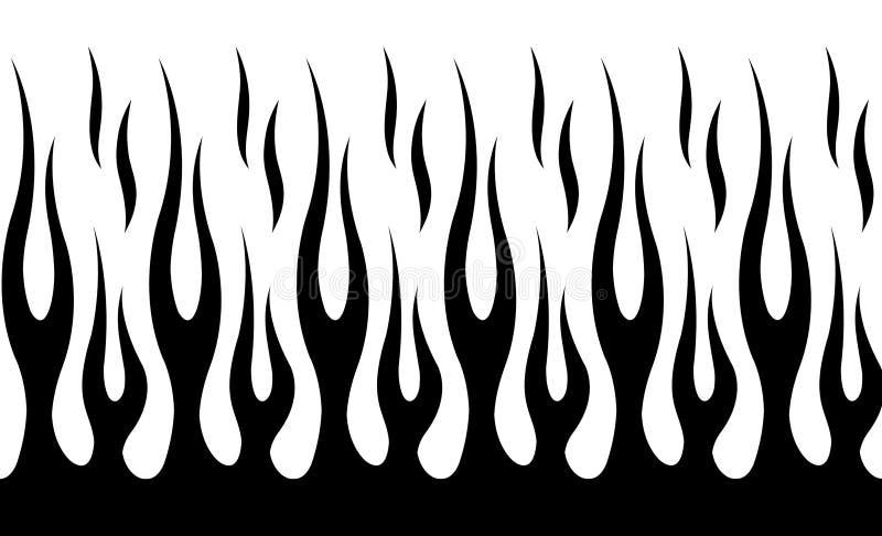 Modello tribale classico della fiamma dell'automobile del muscolo del hotrod illustrazione di stock