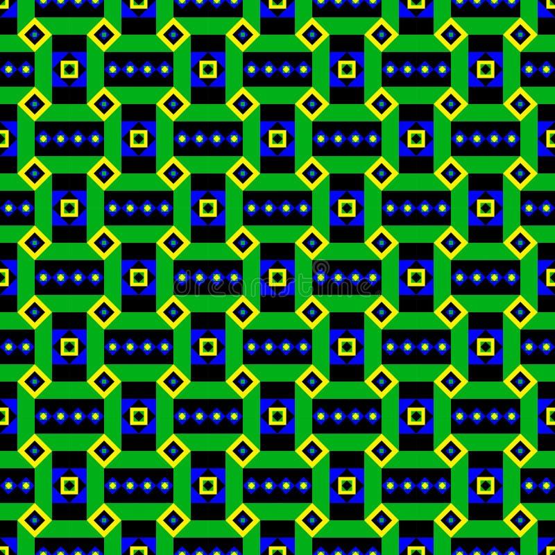Modello etnico verde intenso illustrazione di stock