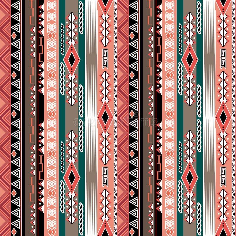 Modello tribale senza cuciture dell'estratto africano di ethno con la f decorativa illustrazione di stock