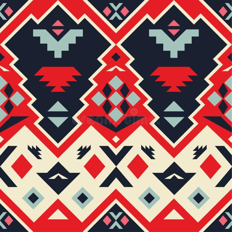 Modello tribale senza cuciture di vettore immagine stock libera da diritti
