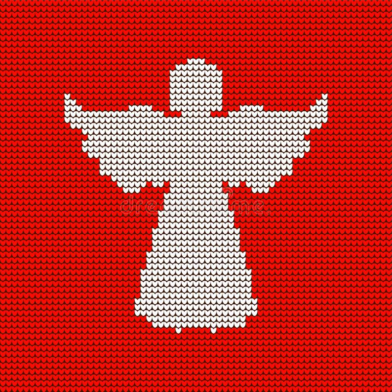 Modello tricottato, angelo celeste Natale illustrazione di stock