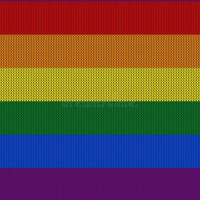 Modello tricottato astratto di colore di LGBTQ Modello senza cuciture di colore dell'arcobaleno Progetti per struttura del maglio fotografia stock