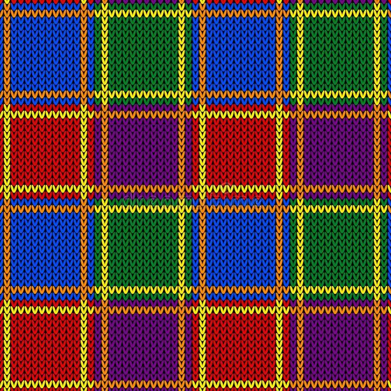 Modello tricottato astratto di colore di LGBTQ Modello senza cuciture di colore dell'arcobaleno Progetti per struttura del maglio fotografie stock libere da diritti