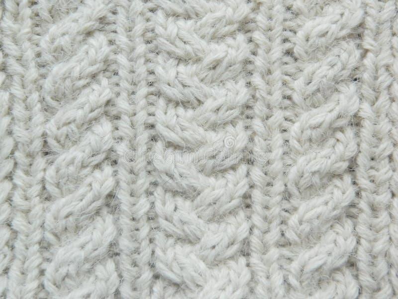 Modello tricottato bianco fotografia stock